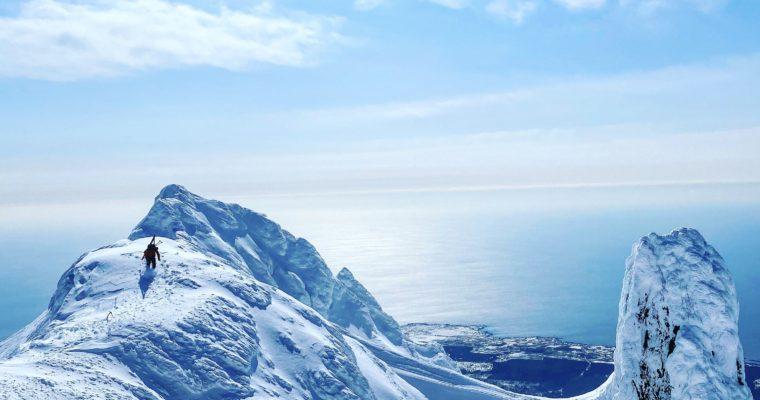 利尻島でスキーライフ