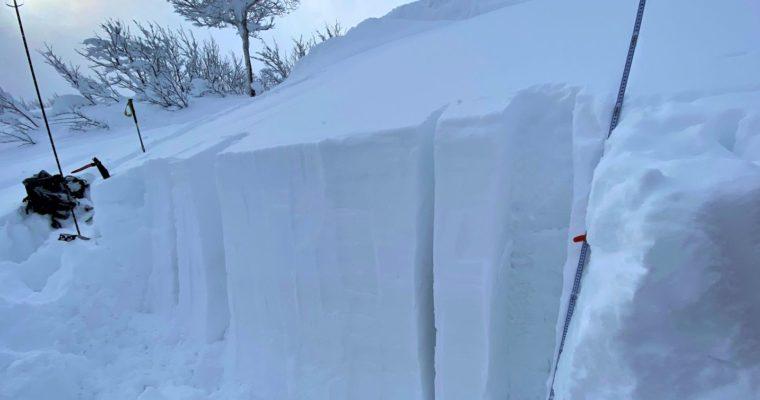 雪山下見②